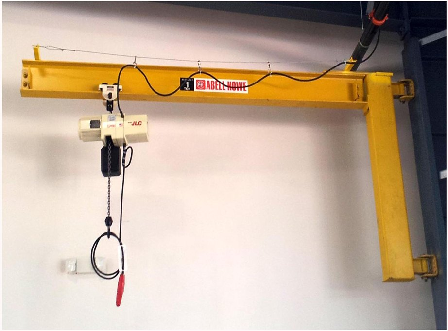 Motorized Wall Mounted Jib Crane : Wall mount cantilever jib cranes scorpion crane repair