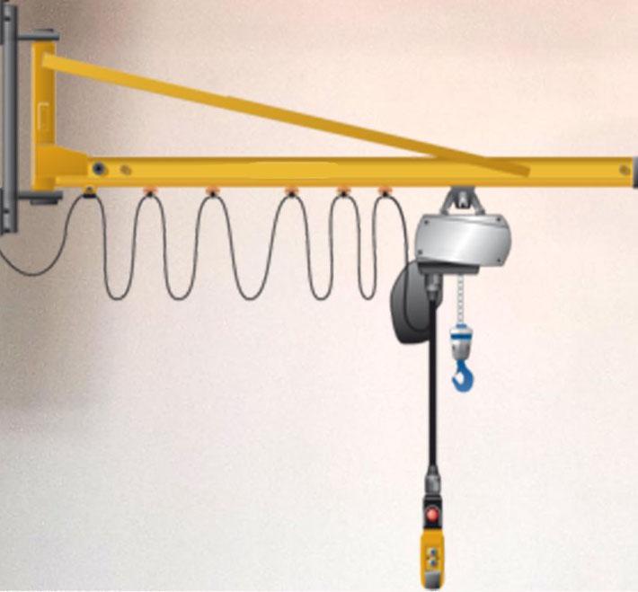 Jib Crane Mounting Brackets : Wall bracket tie rod type jib cranes scorpion crane